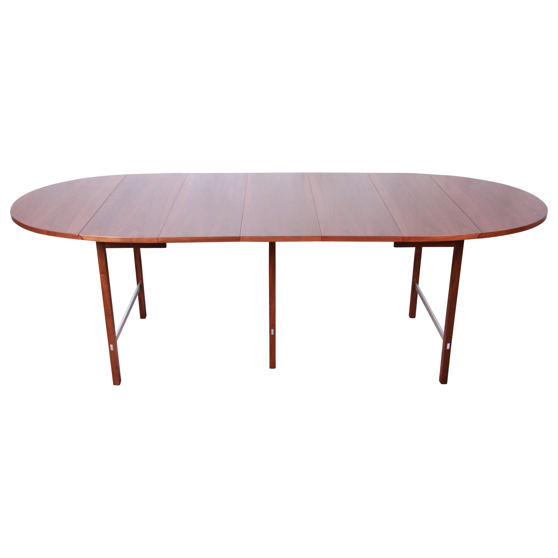 Paul McCobb for Calvin Mid-Century Modern Walnut Dining Table, Newly Restored