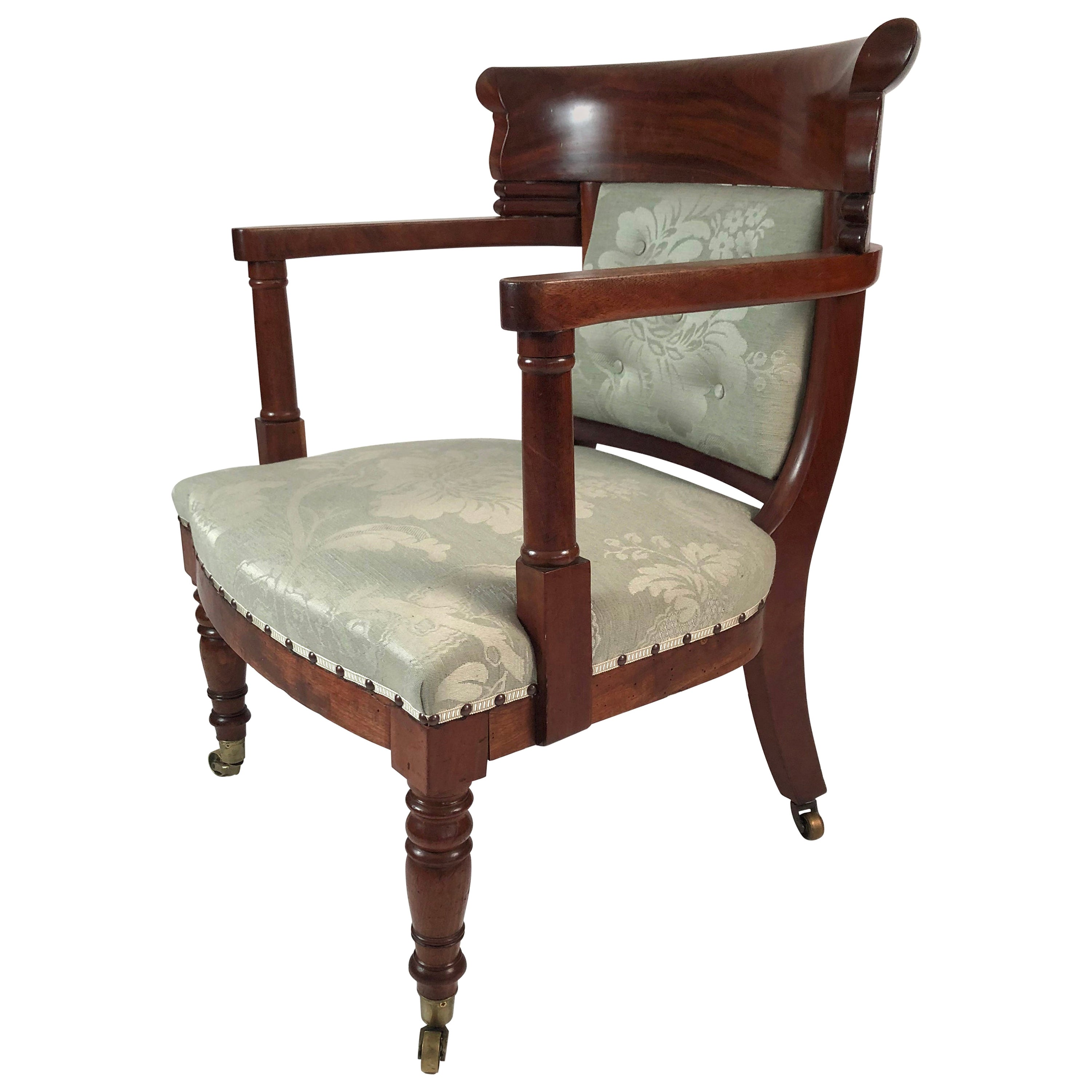 19th Century French Empire Neoclassical Armchair