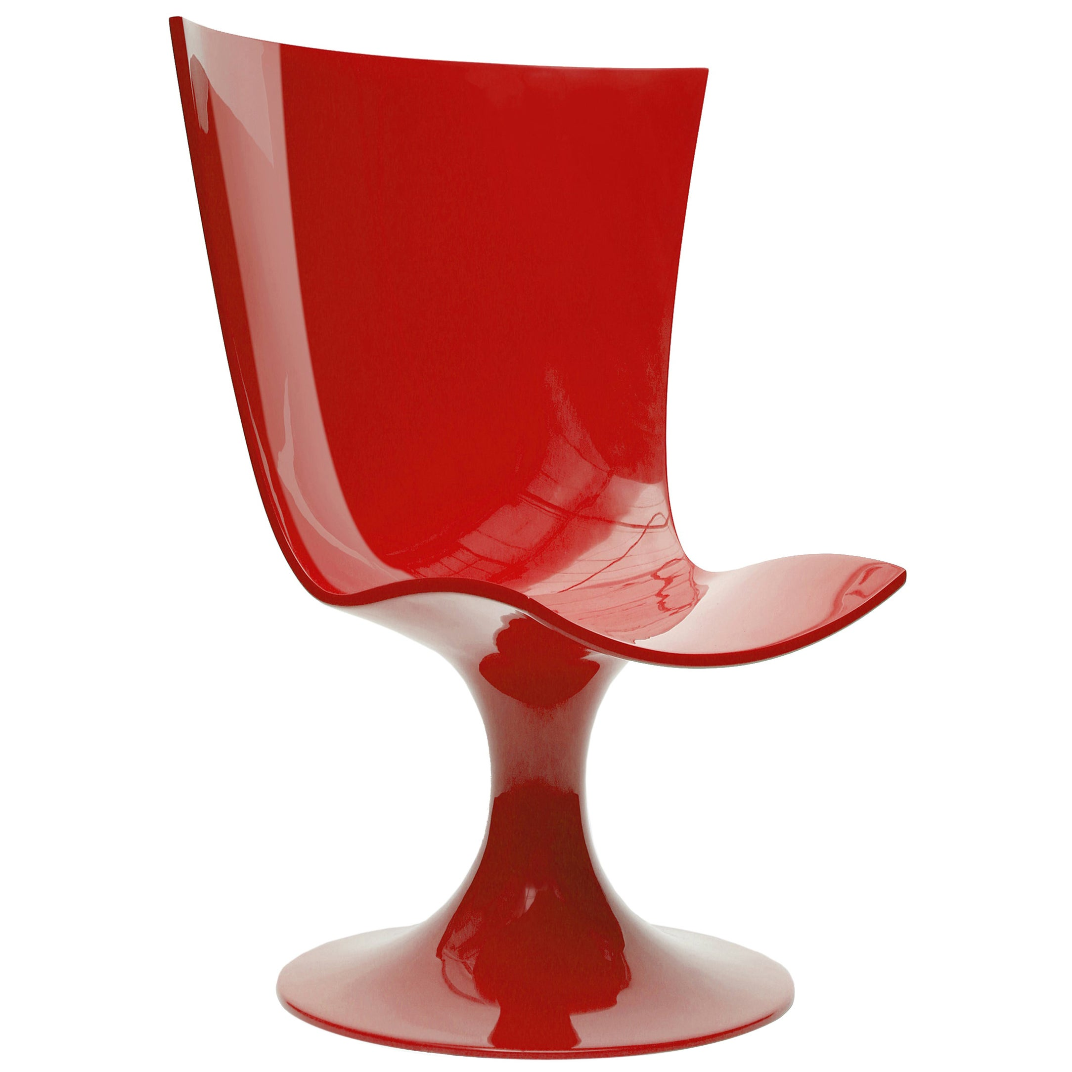 Imposing Red Seat, Decorative and Sculptural Santos Chair by Joel Escalona