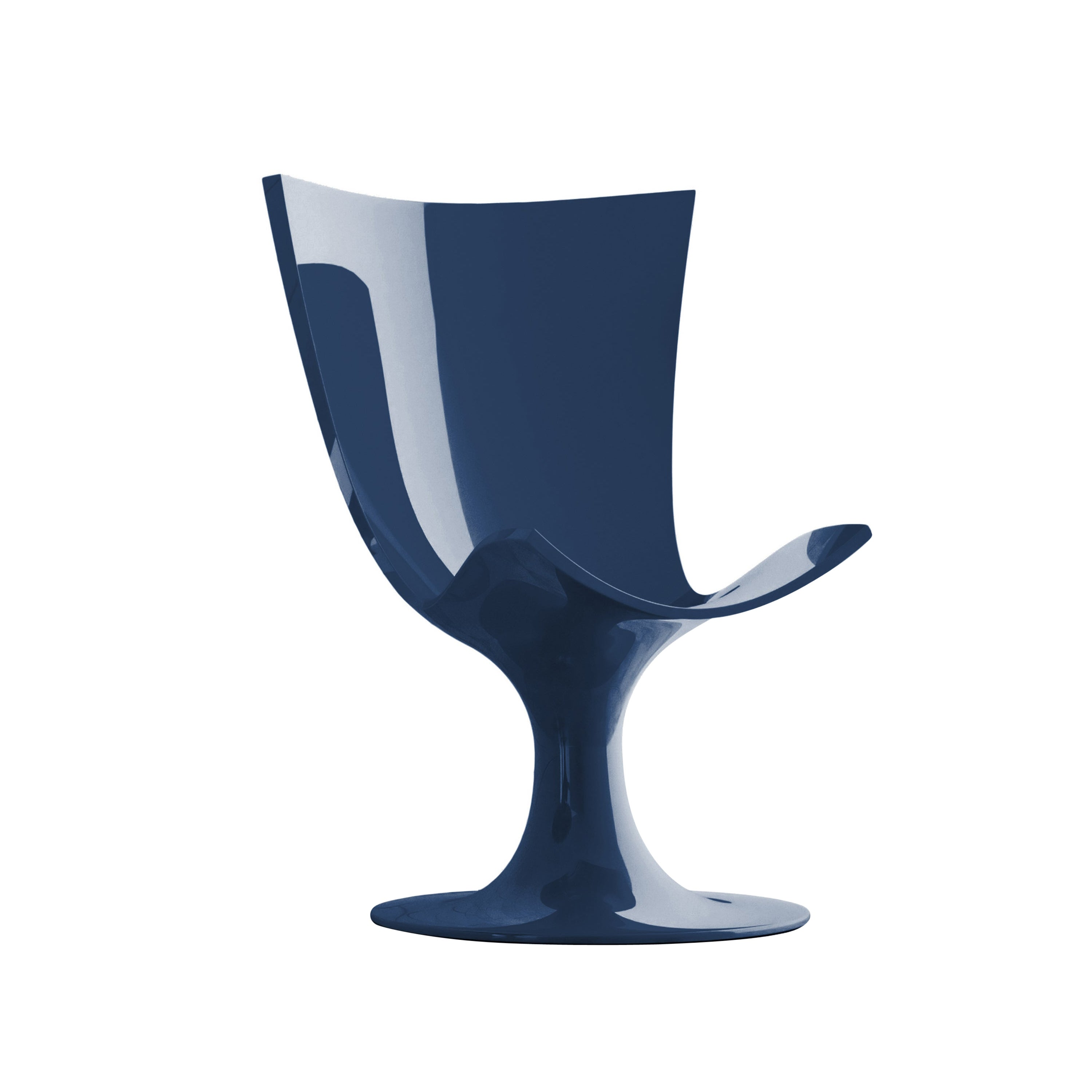Imposing Blue Seat, Decorative and Sculptural Santos Chair by Joel Escalona