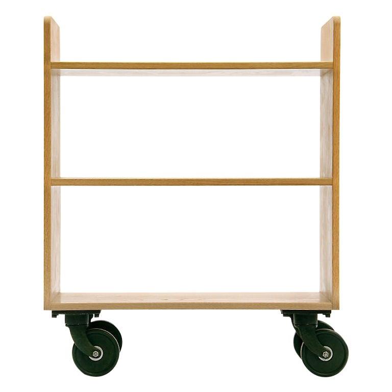 Oak Library Cart by Wyeth