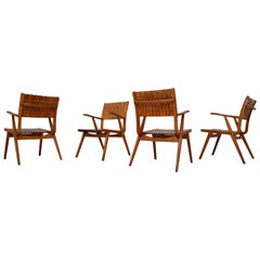 Set of Four Erich Dieckmann Bauhaus Lounge Chairs for Gelanka , Germany 1930s