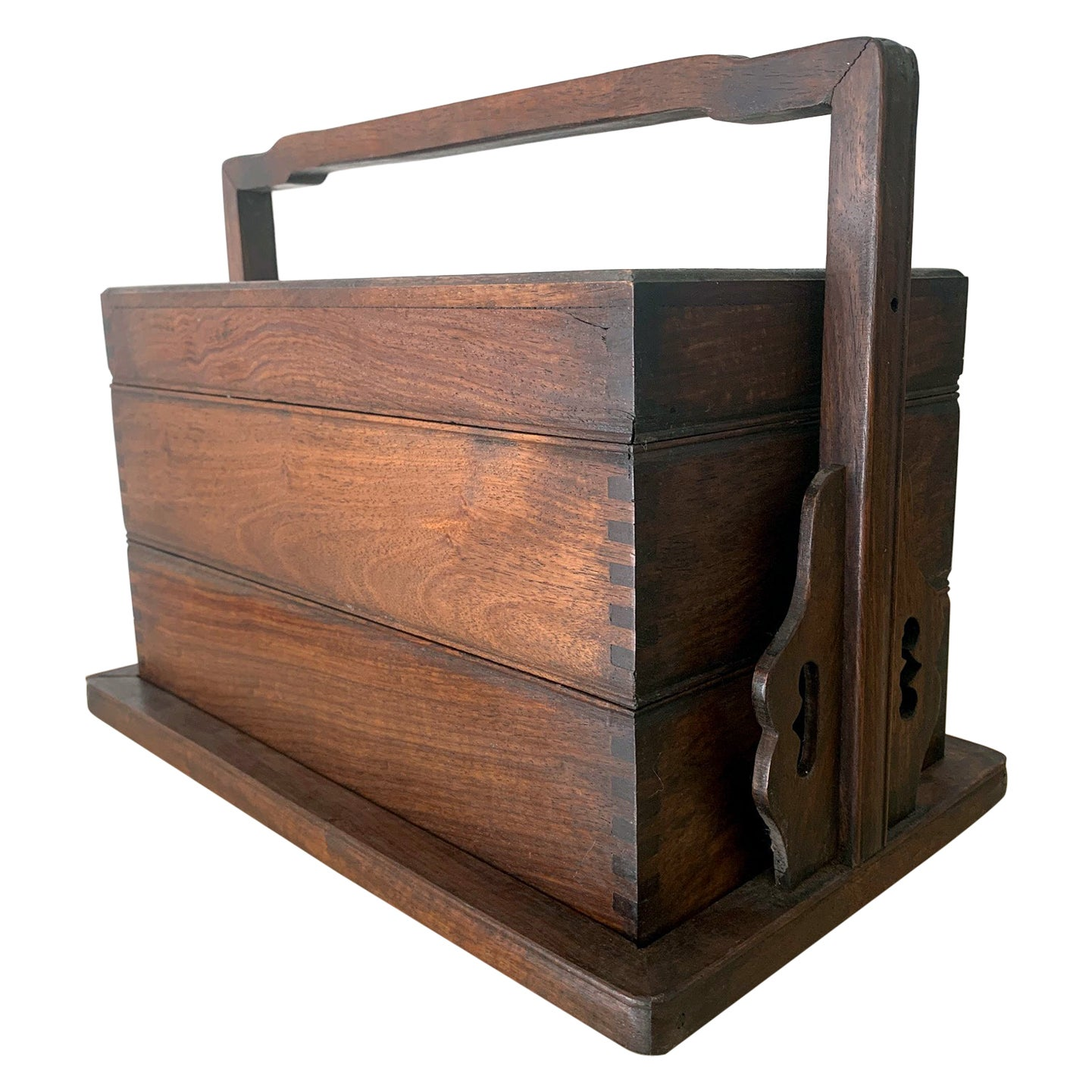 Chinese Huanghuali Stacked Carrying Box
