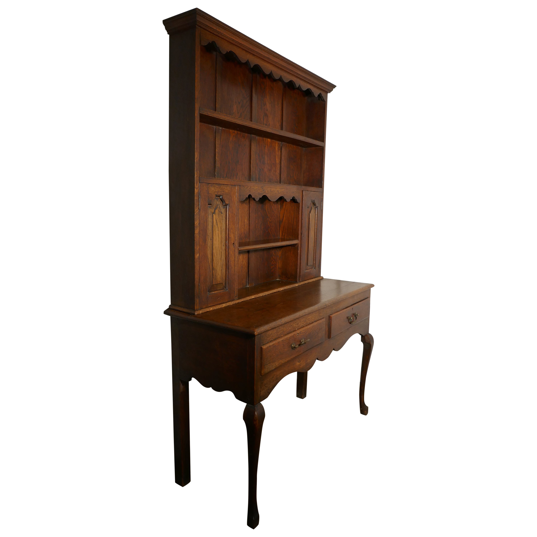 Early 20th Century Gothic Golden Oak Welsh Dresser