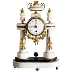 19th Century Swedish Empire Table Clock