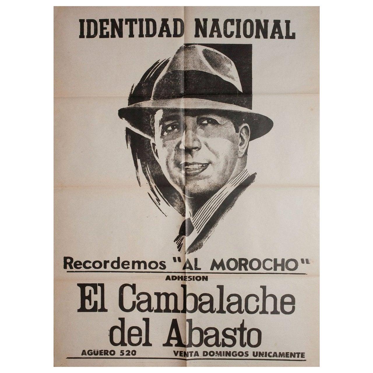Carlos Gardel 1930s Argentine Poster