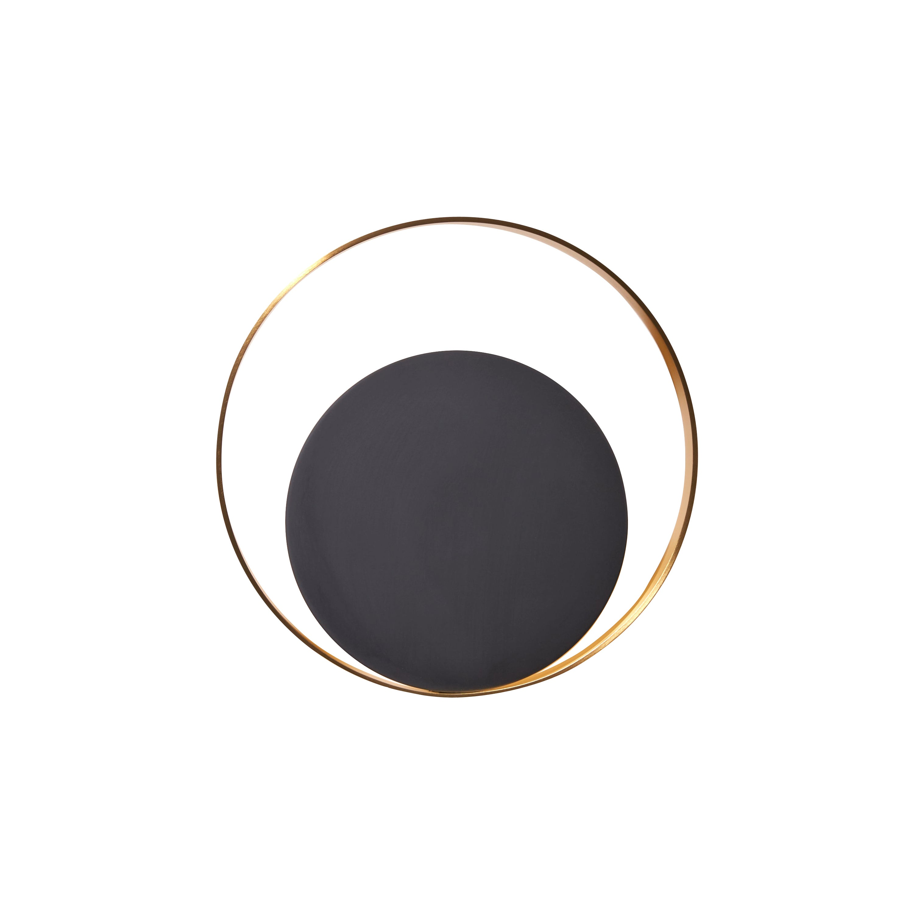 VeniceM Small Circle Wall Light in Burnished Brass by Massimo Tonetto