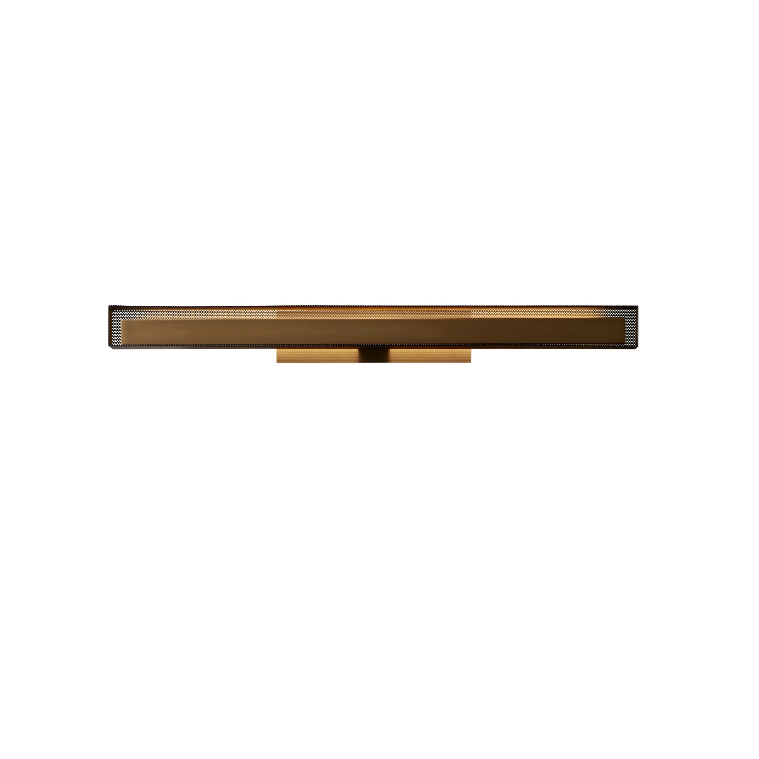VeniceM Urban Lightline Wall Light in Burnished Brass & Metal by Massimo Tonetto