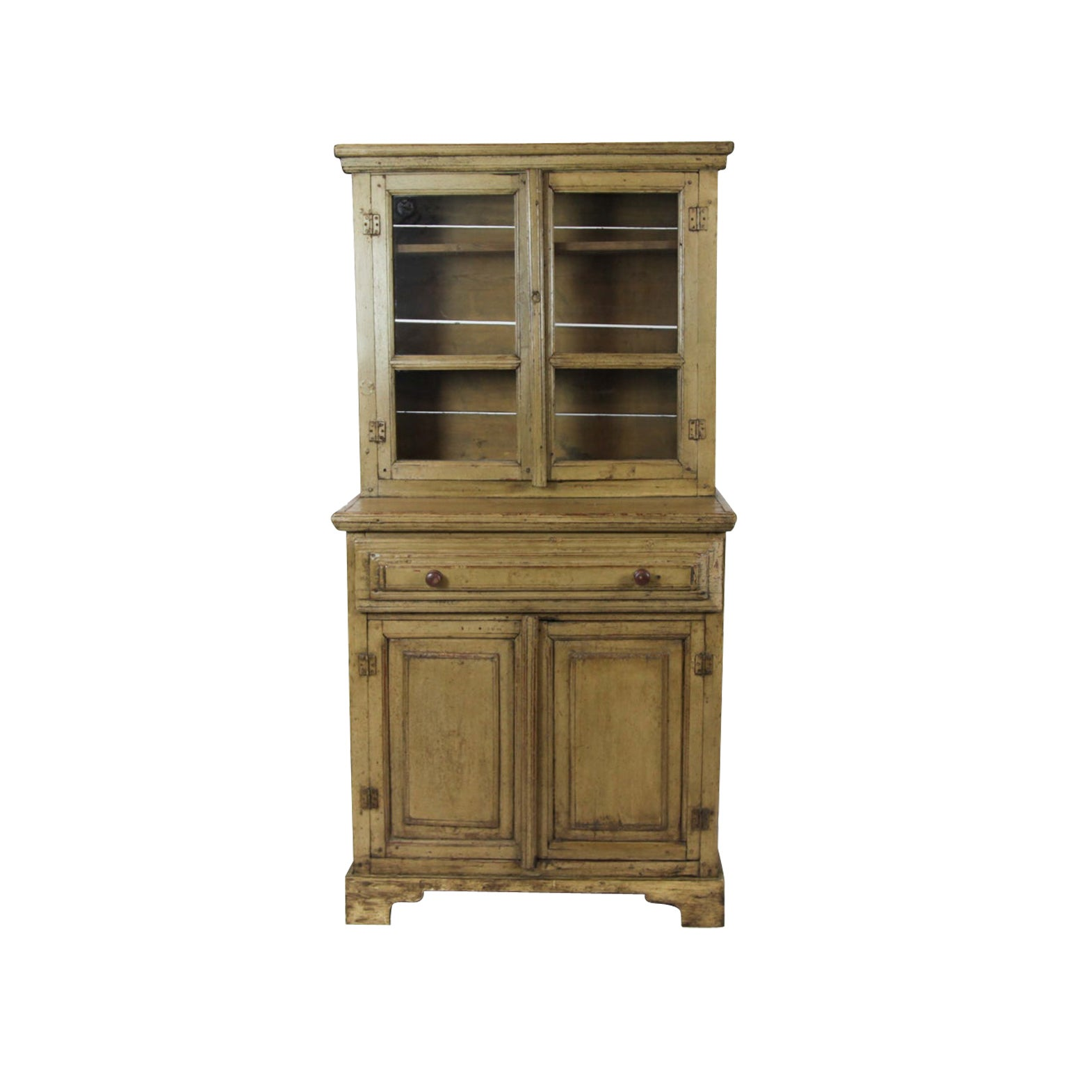 19th Century Painted Step Back Cupboard