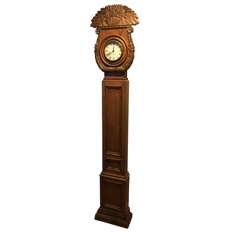 Rare Carved Wooden Chapman Longcase Clock
