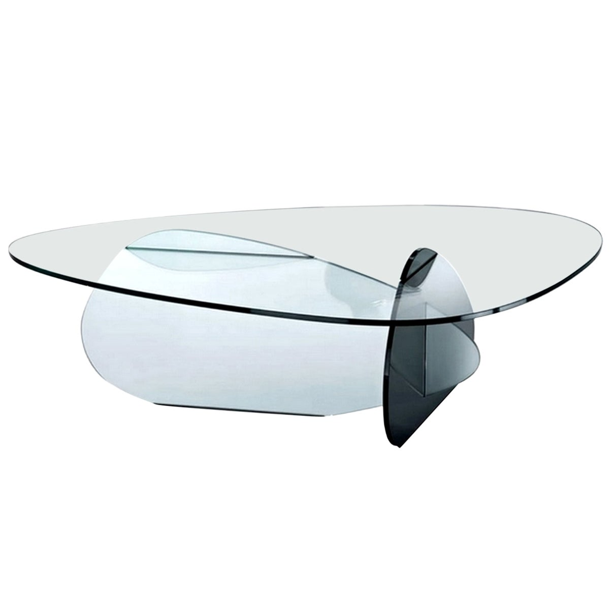 In stock in Los Angeles, Kat Glass Table Designed by Karim Rashid, Made in Italy