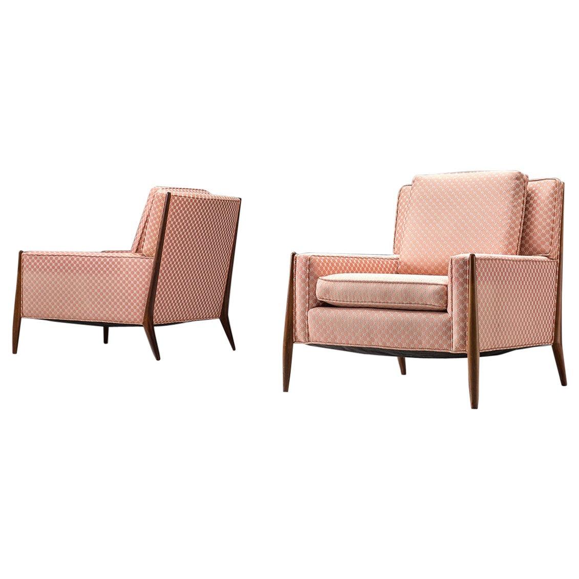 Jules Heumann Pair of Pink Lounge Chairs