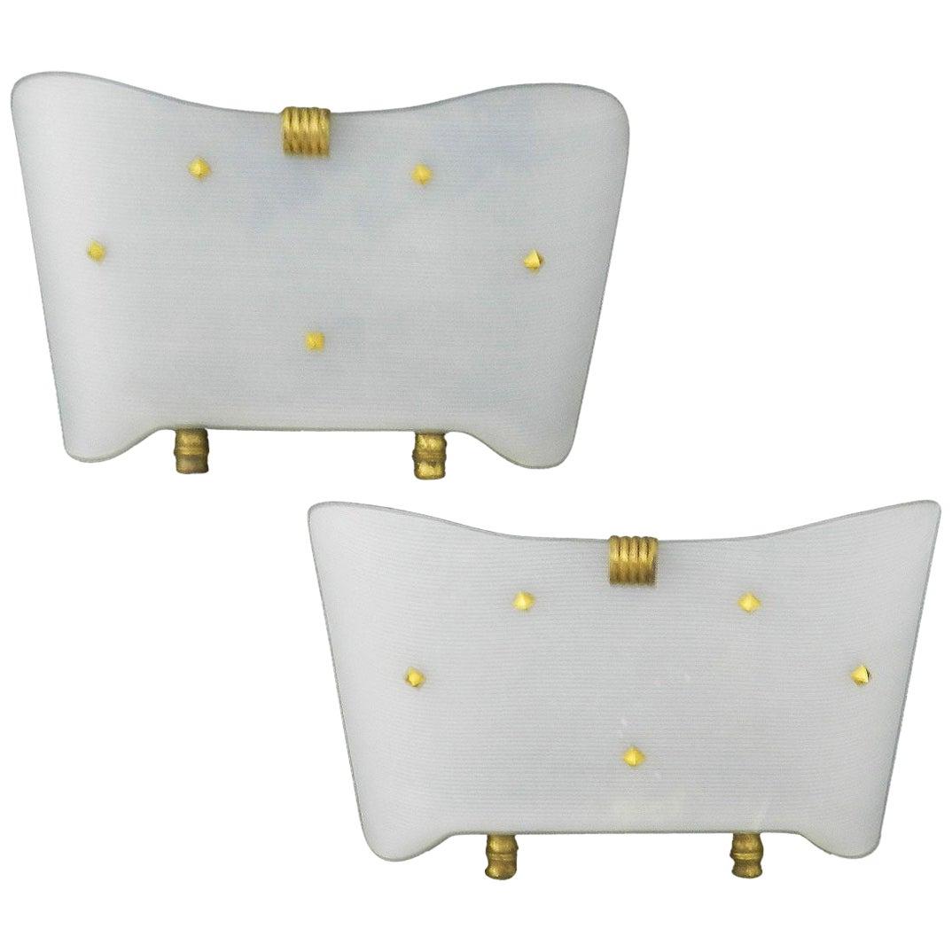 Pair of Sconces Wall Lights French Midcentury Guariche Style