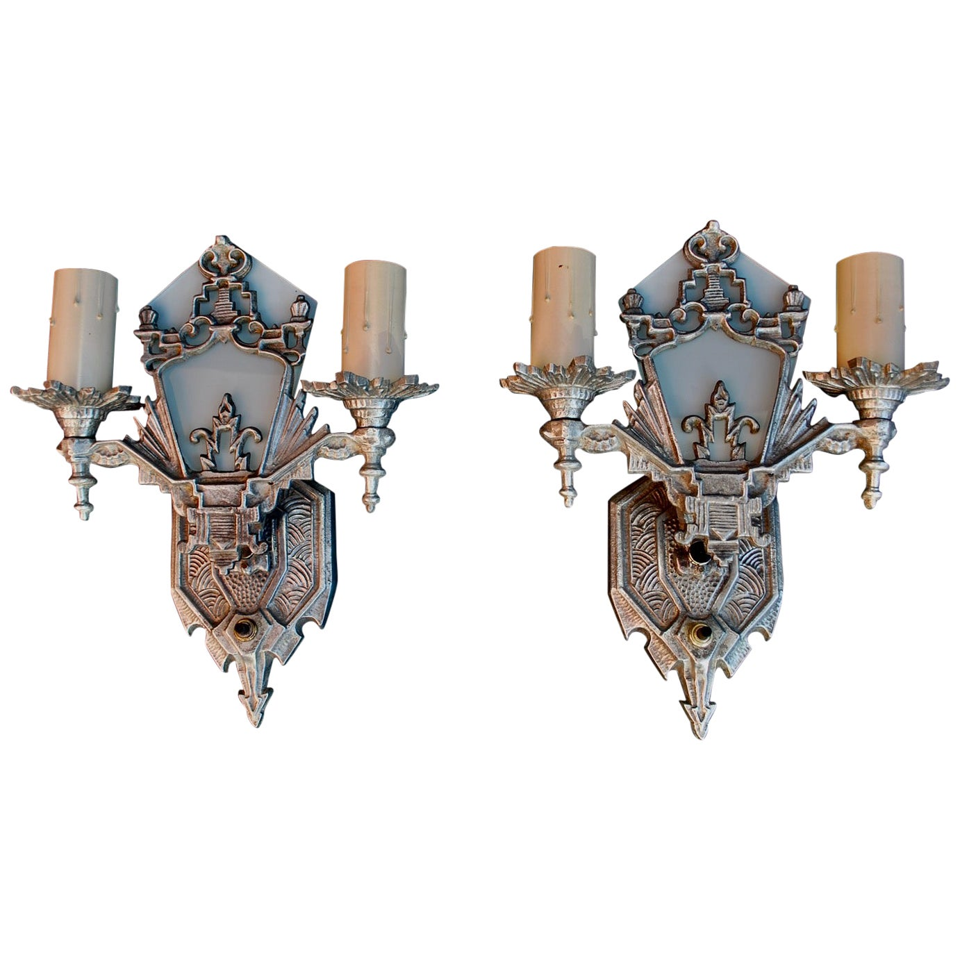 Beautiful Pair of Art Deco Sconces