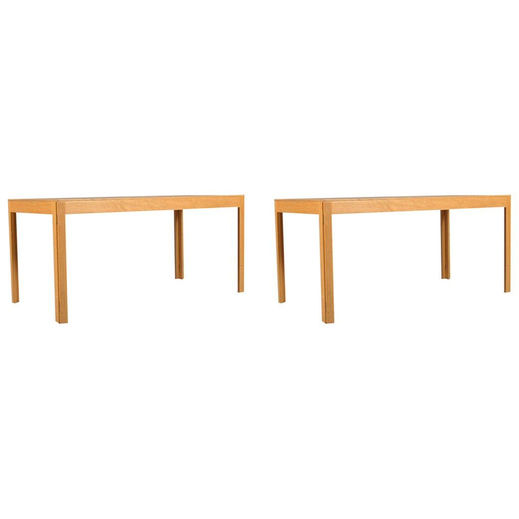 1970s Borge Mogensen Refinished Folding Conference / Dining Tables in Oak