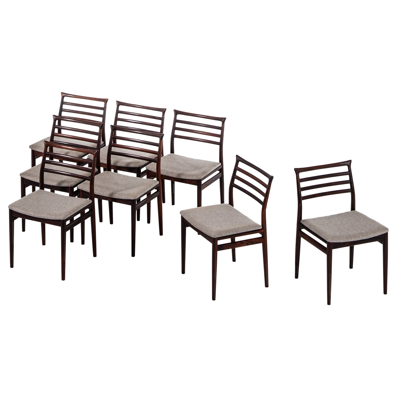 Erling Torvits Dining Chairs Produced by Sorø Stolefabrik in Denmark