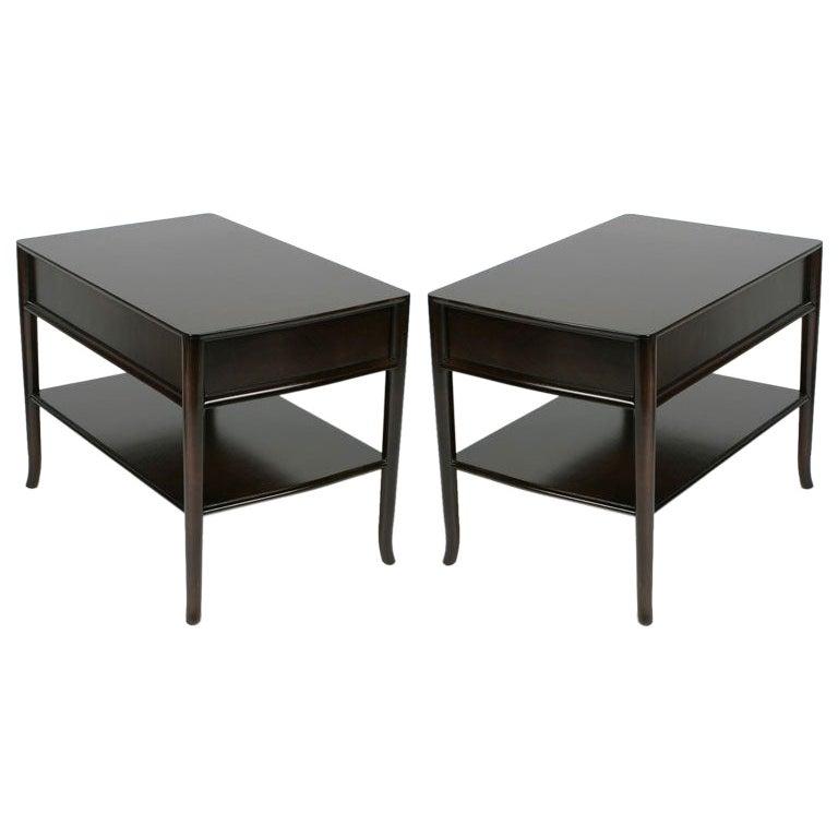 Pair of T. H. Robsjohn-Gibbings End Tables or Nightstands