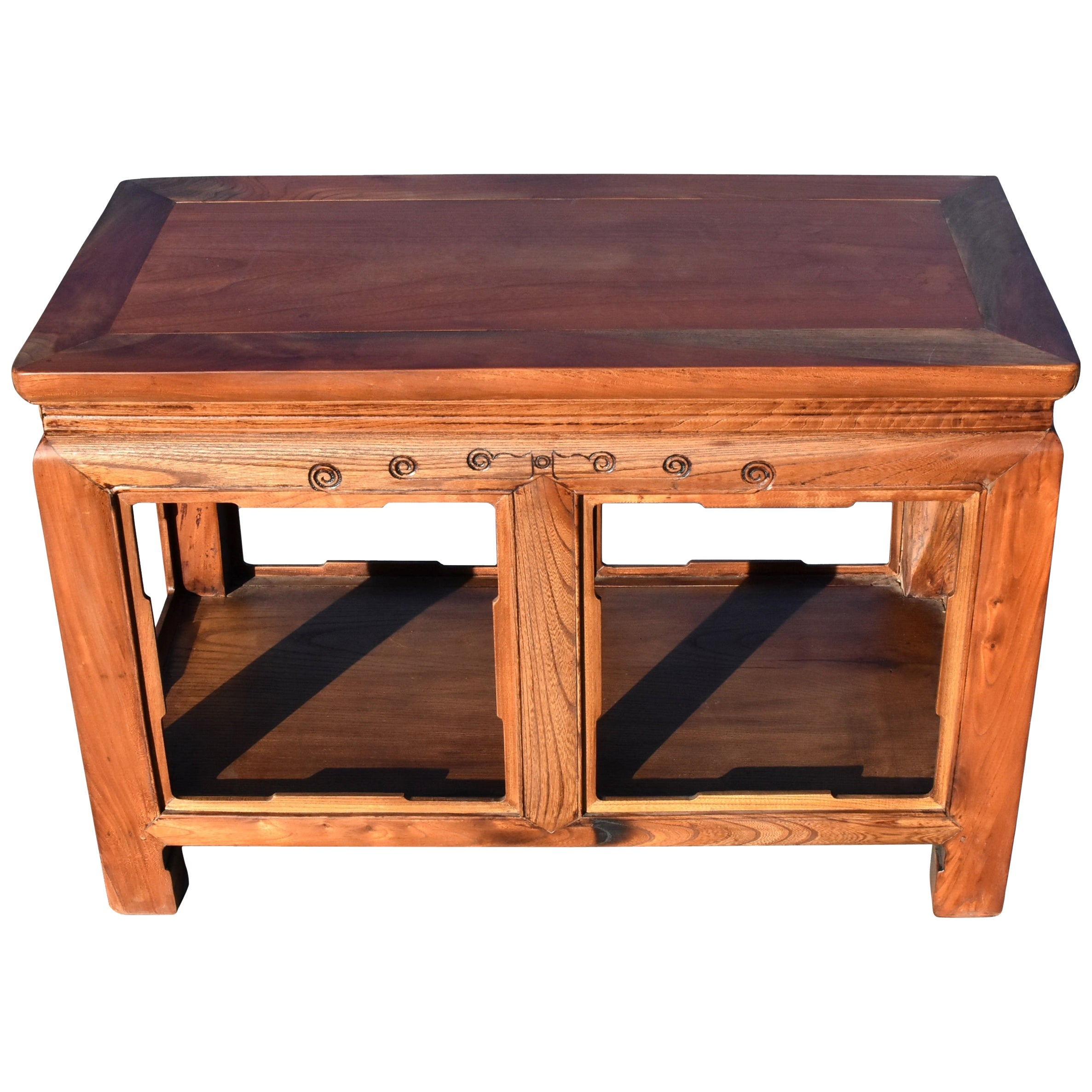 Asian Solid Wood Ming Style Table, Bench
