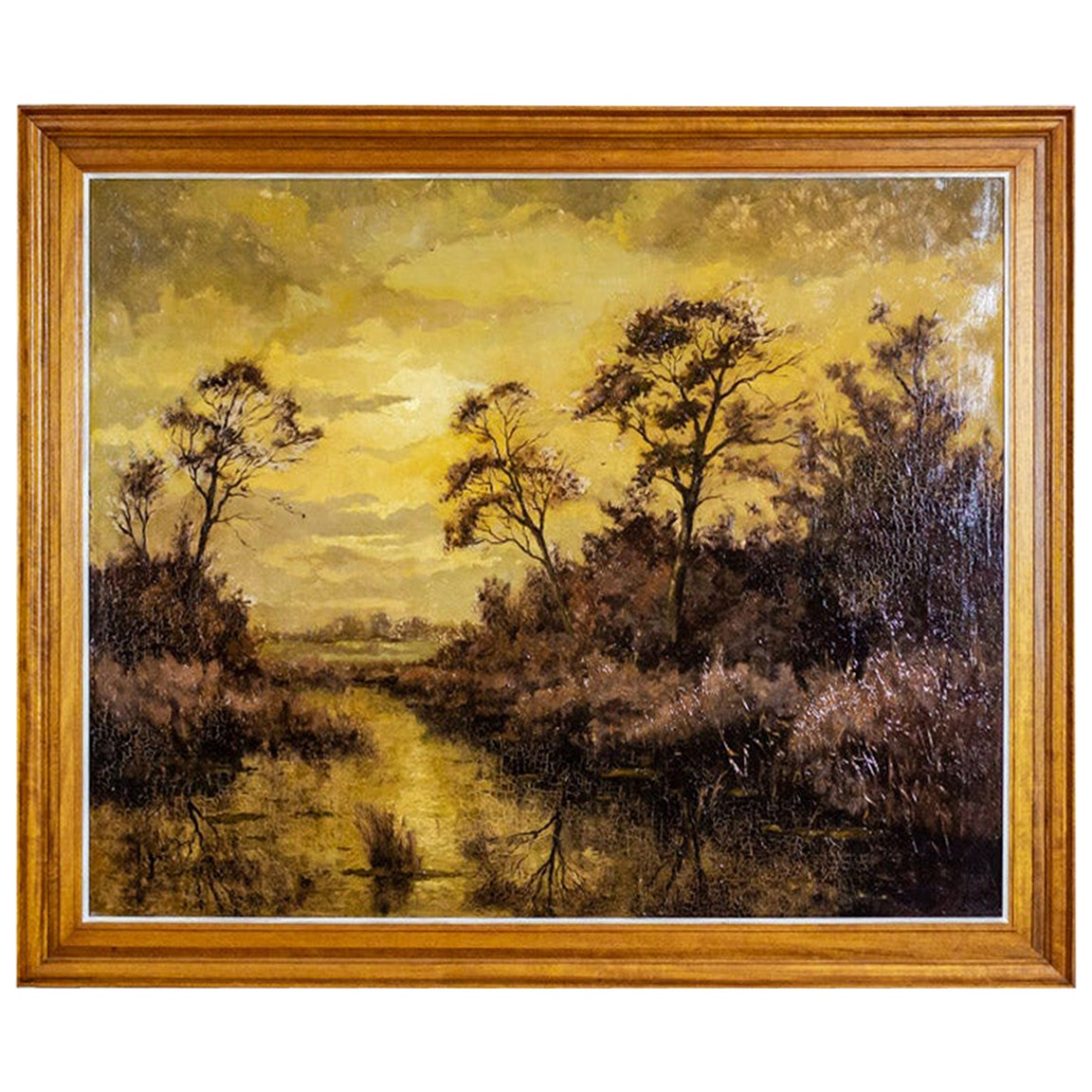 20th Century Oil Painting Depicting a Landscape