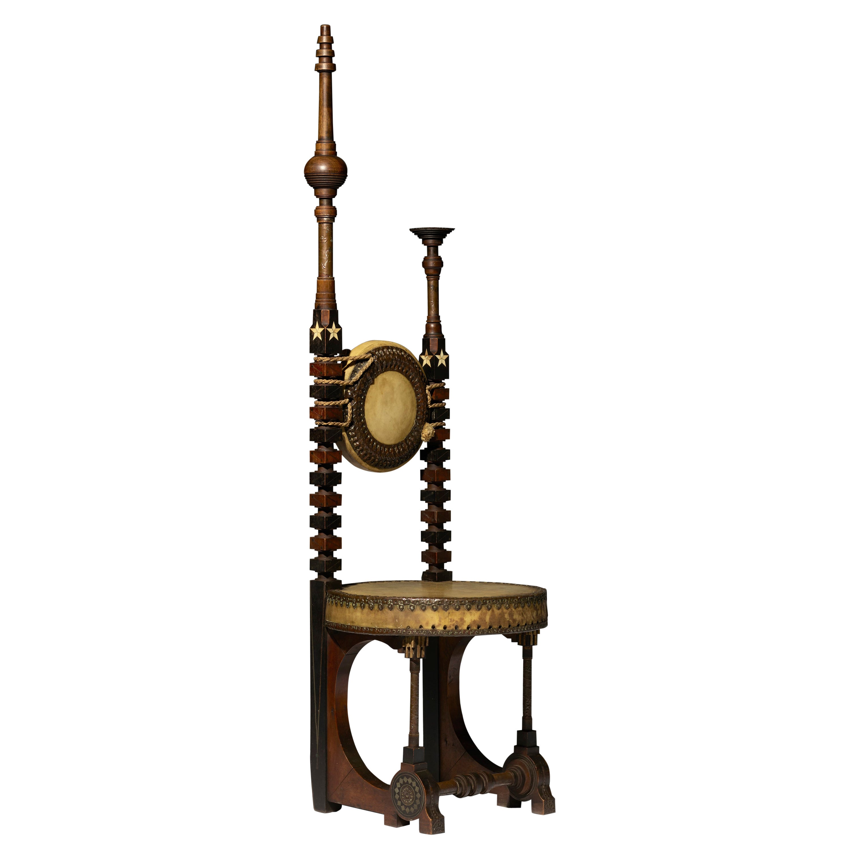 """Rare """"Mosque"""" Chair by Carlo Bugatti"""