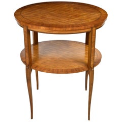 Belle Époque Parquetry Side Table, France, circa 1900