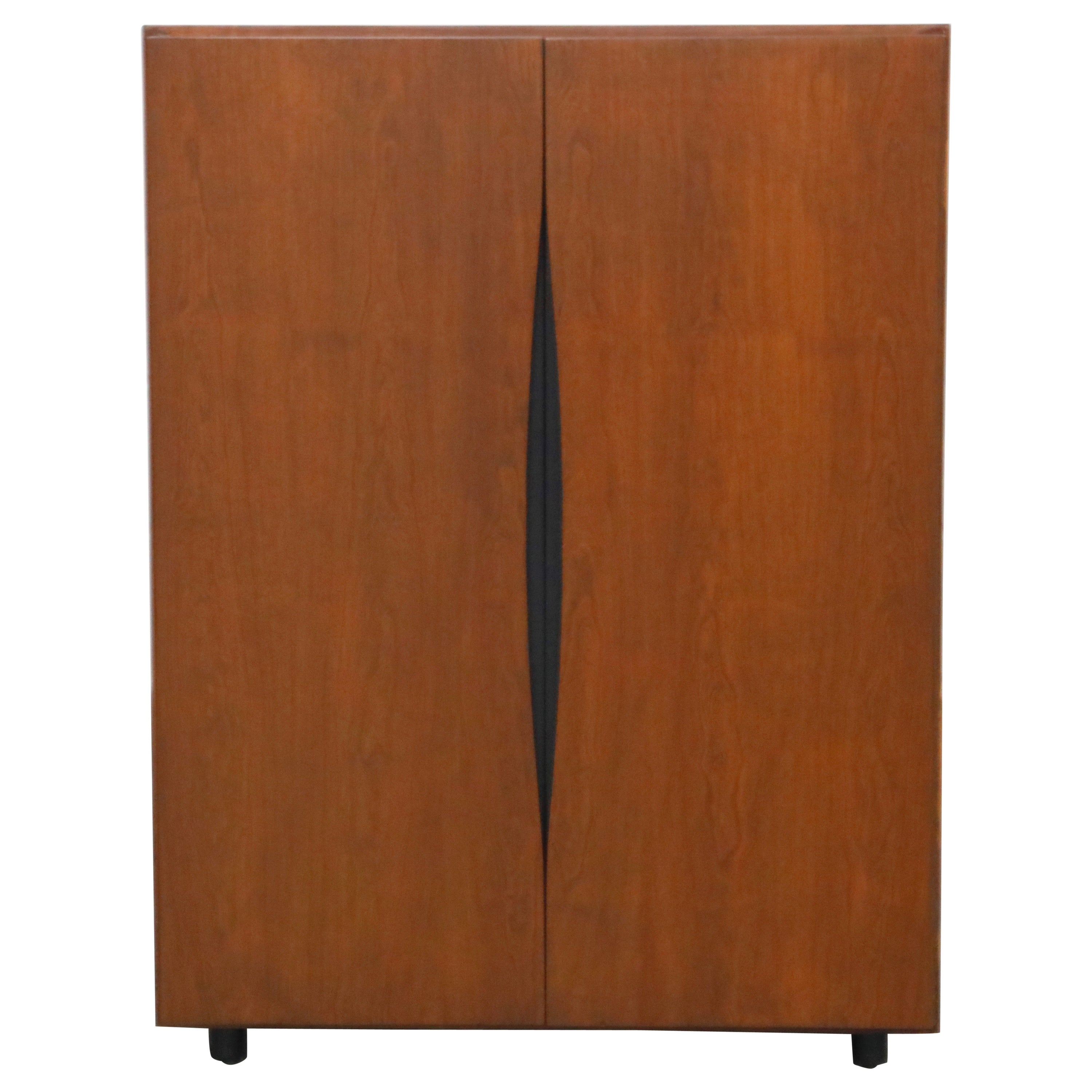 Vladimir Kagan for Grosfeld House Accessory Armoire Cabinet, 1950s, Signed