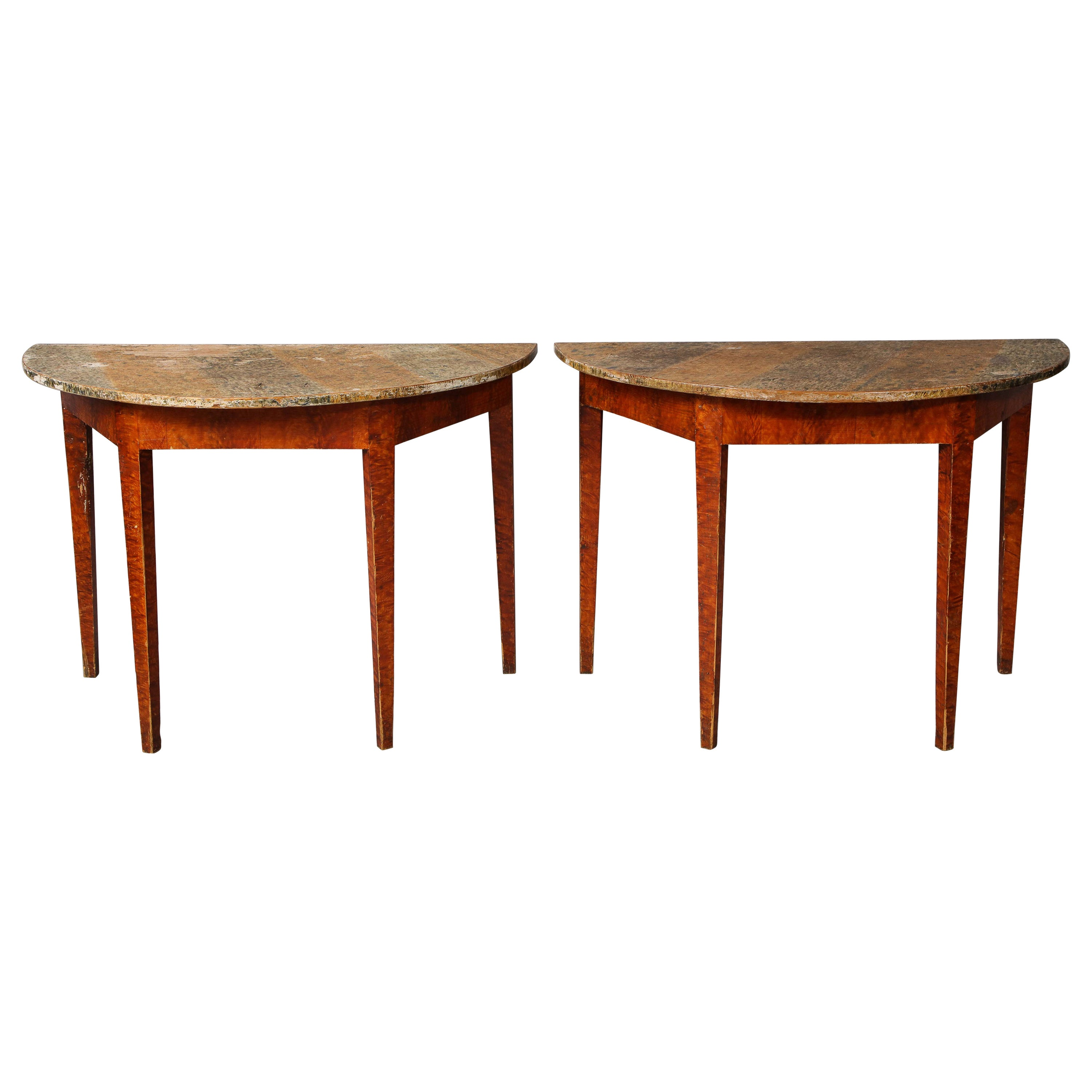 Pair of Swedish Gustavian Console Tables