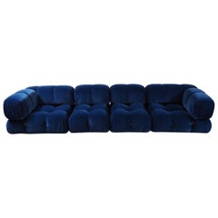 4 Elements Camaleonda Modular Sofa Design Mario Bellini, Blue Velvet