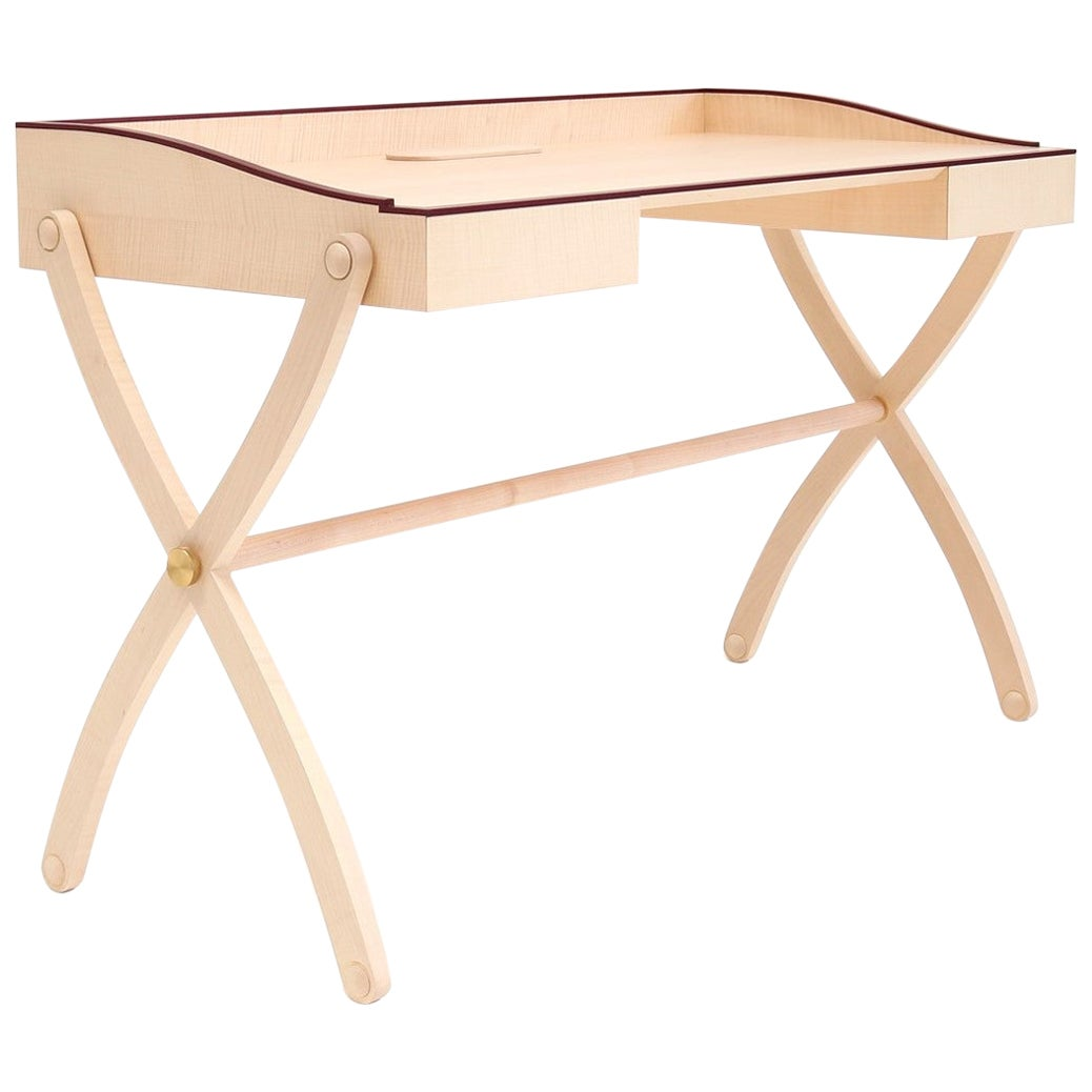 Marguerite Contemporary design Maple Wood Writing Desk by Giordano Viganò