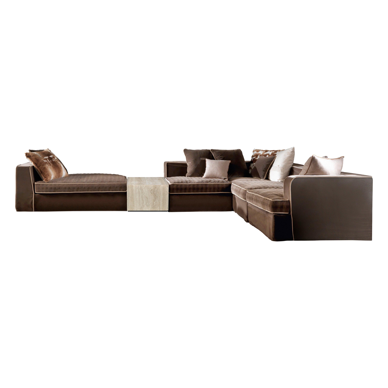 Gianfranco Ferré Home Flair Modular Sofa in Velvet