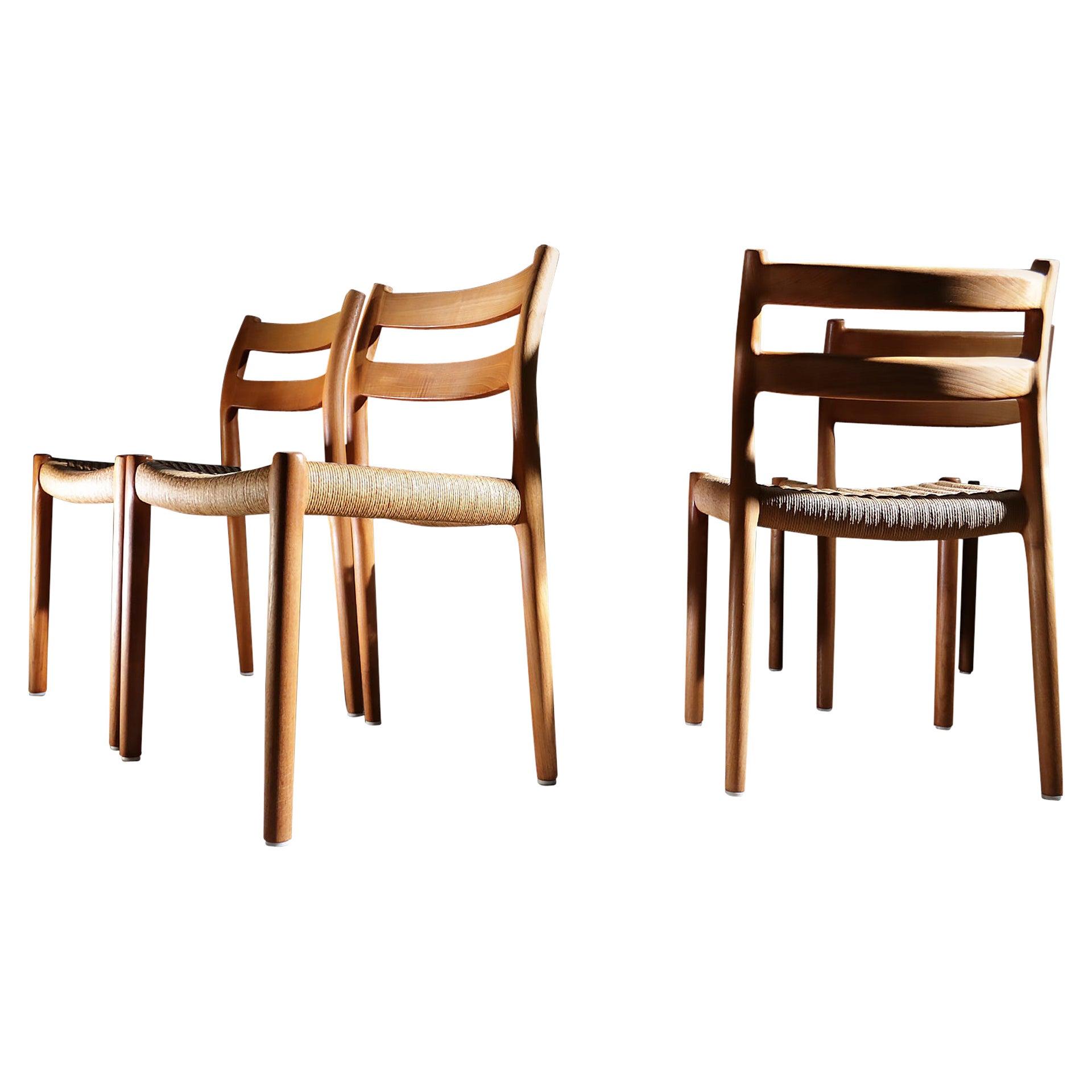 Niels O. Møller Model 84 Teak Dining Chair for J.L. Møllers, 1976