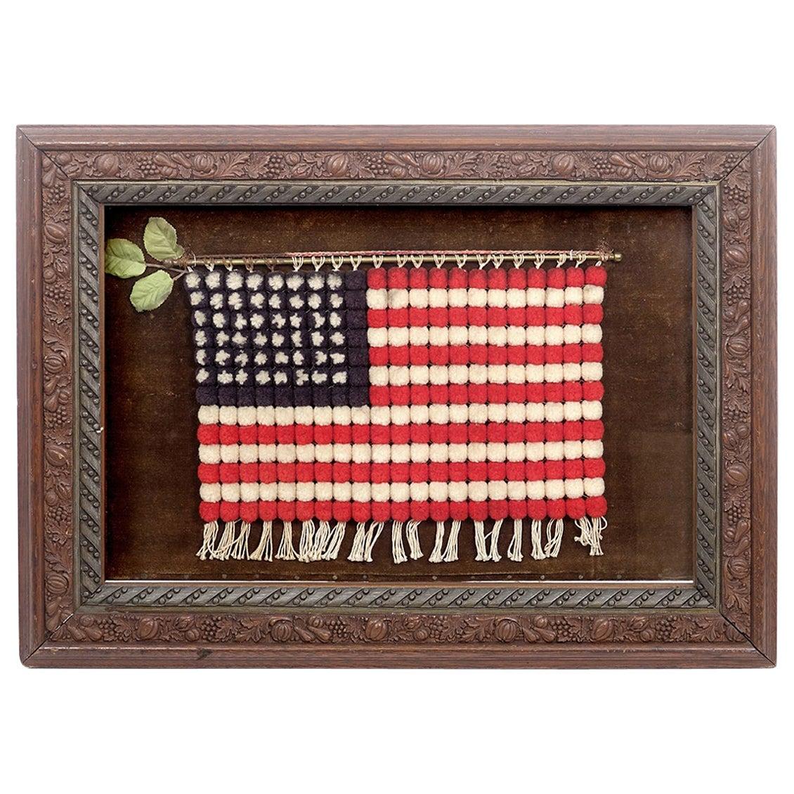 Shadow Box with Folk Art Flag