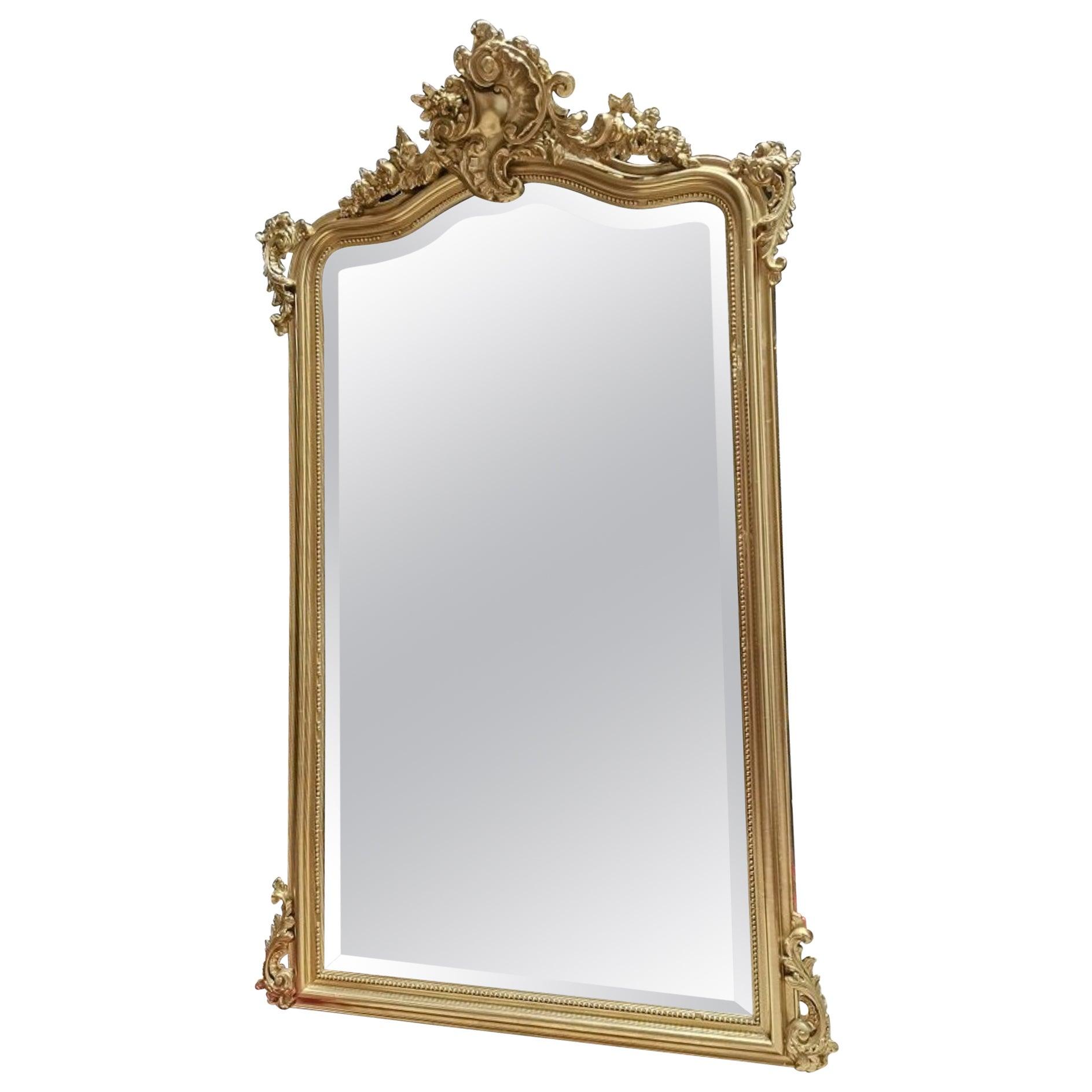 Napoleon III Large French Wall Mirror, 19th Century