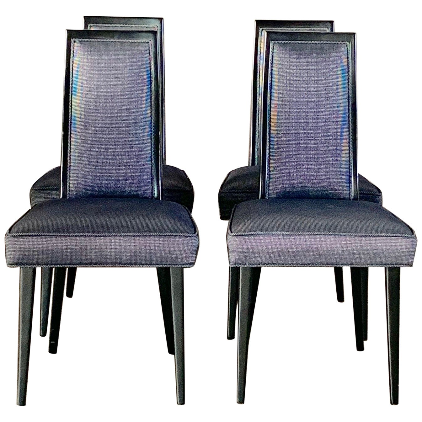 Set of Four Elegant Dining Chairs by Harvey Probber
