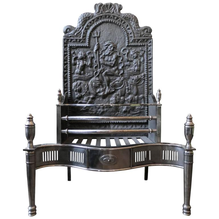 Large 19th Century Fire Grate For Sale At 1stdibs