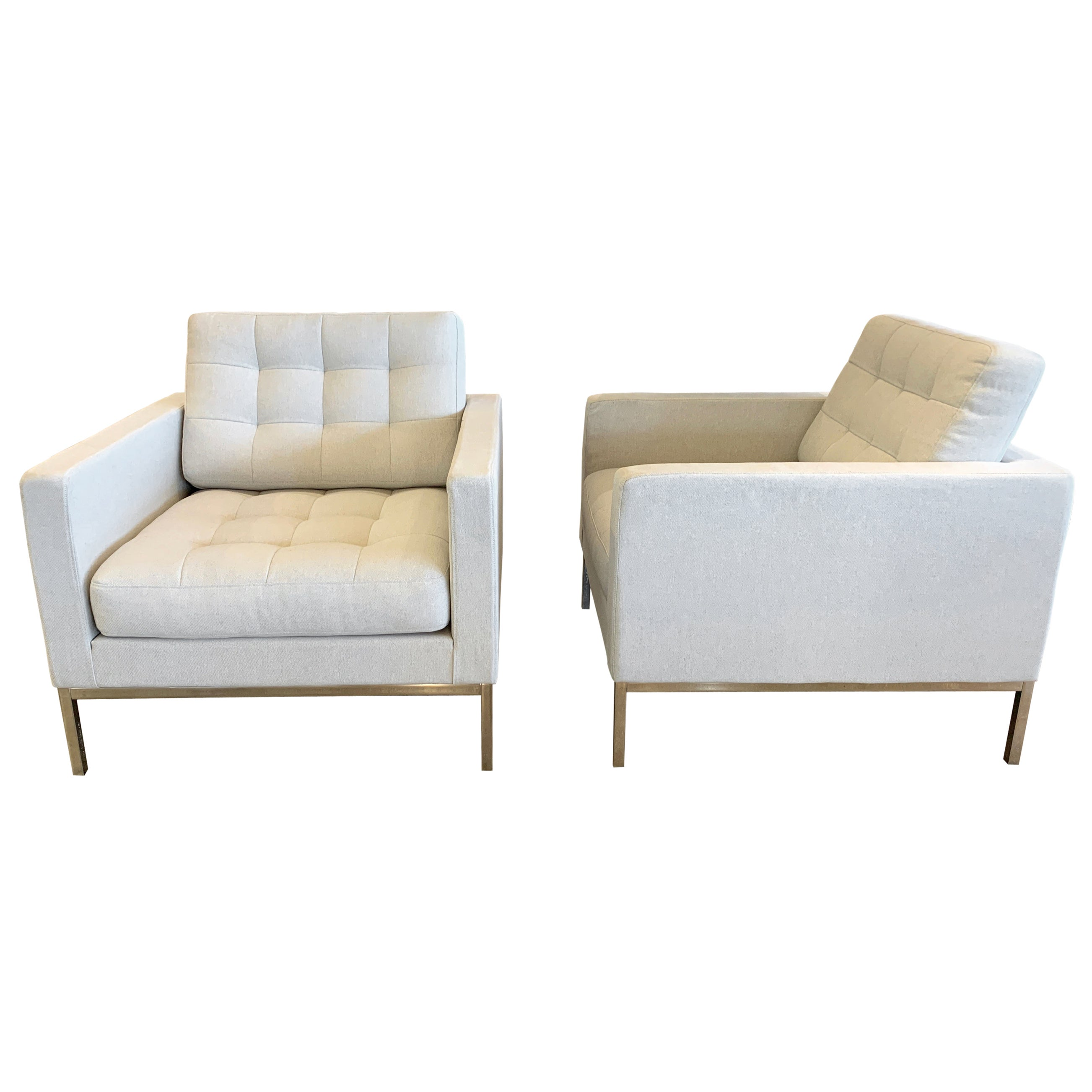 Pair of Florence Knoll  Relaxed Lounge Chairs