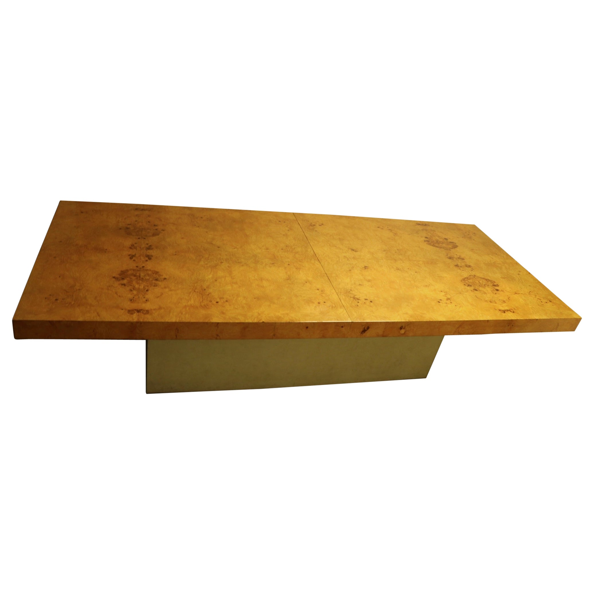 Ginormous Burl Top Conference Dining Table after Baughman