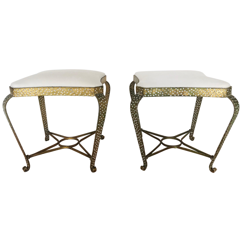 Pier Luigi Colli Wrought Metal Footstools