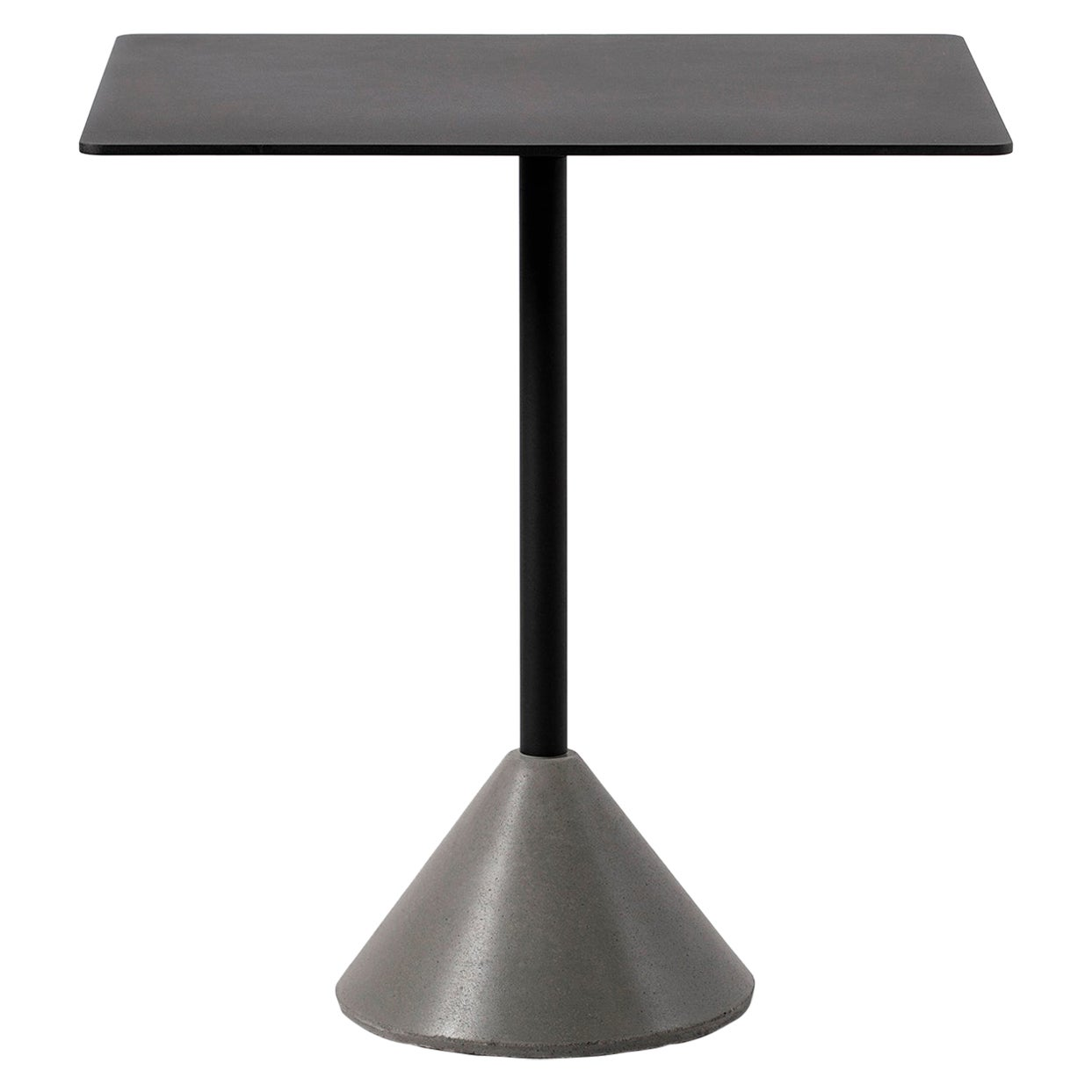 Square Dining Table 'DING' Made of Concrete and Aluminum 'Black'