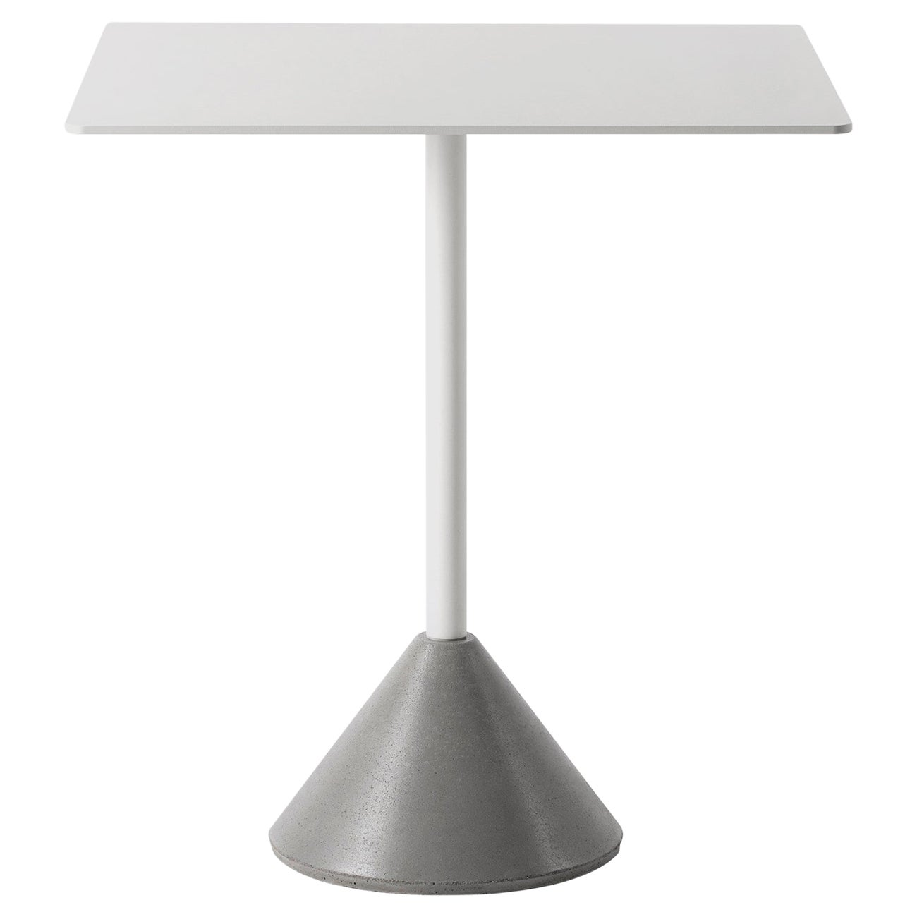 Square Dining Table 'DING' Made of Concrete and Aluminum 'White'