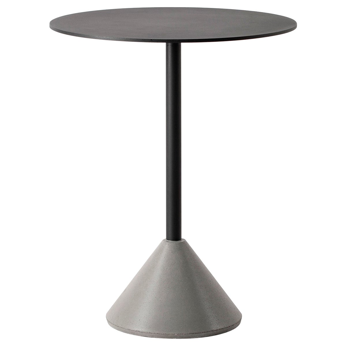 Round Dining Table 'DING' Made of Concrete and Aluminum 'Black'
