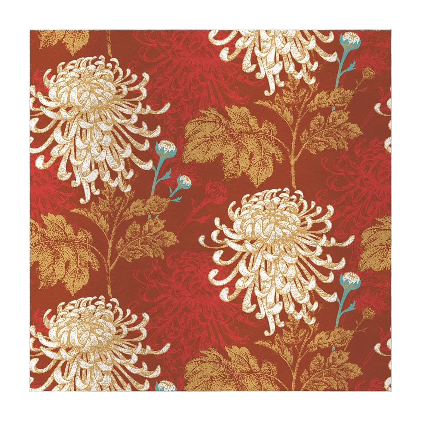 Mixed Dahlia Red Panel #1