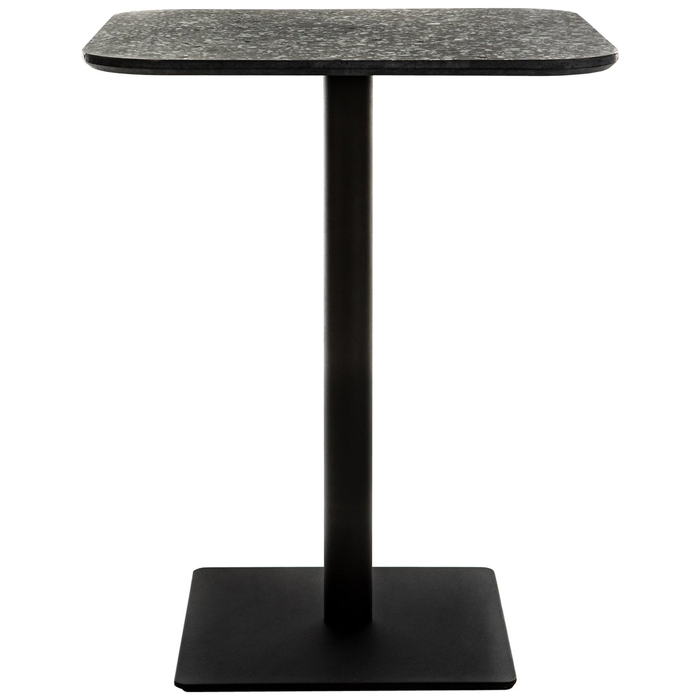 Square Dining Table 'i' in Black Terrazzo