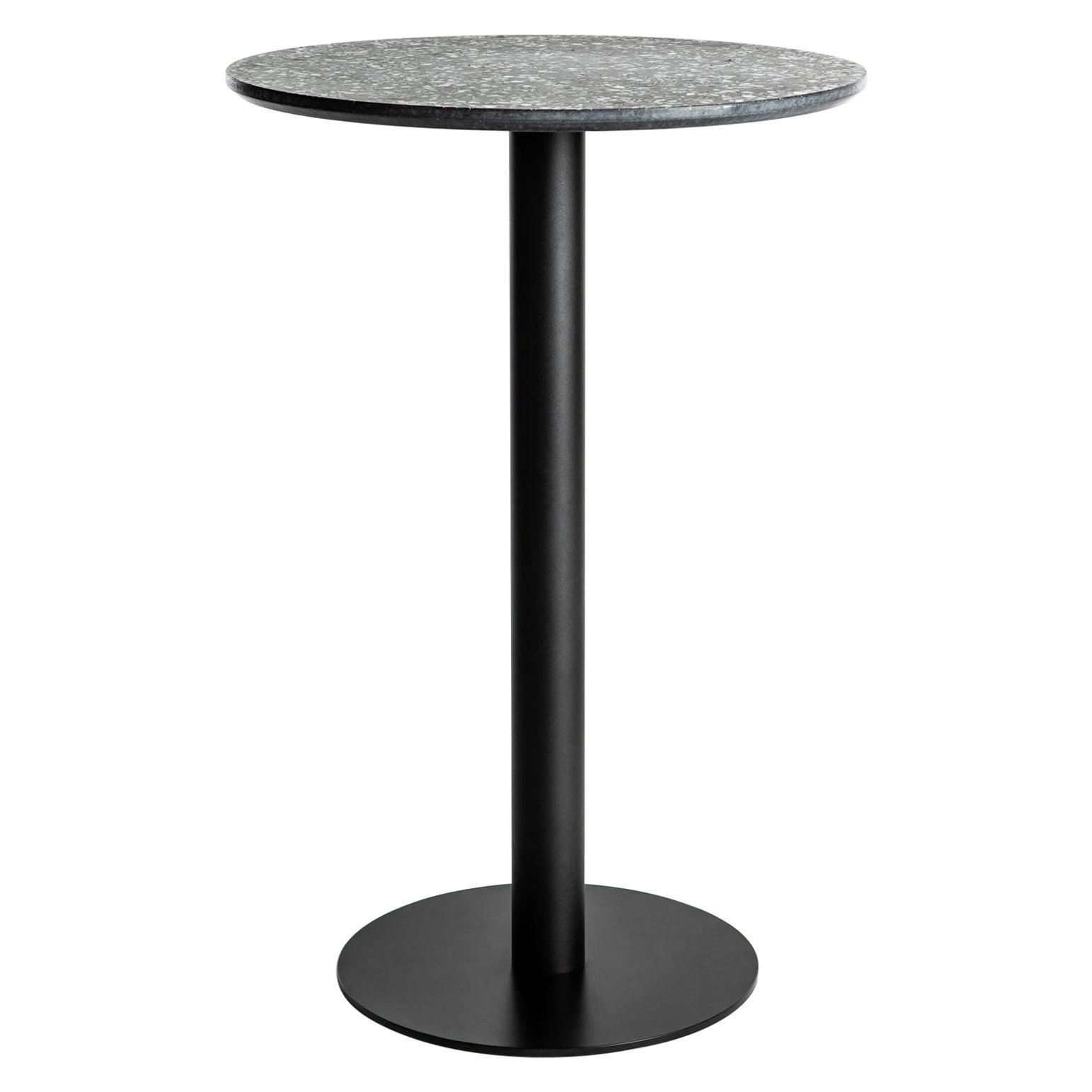 Guéridon / Bistro Table 'I' in Black Terrazzo