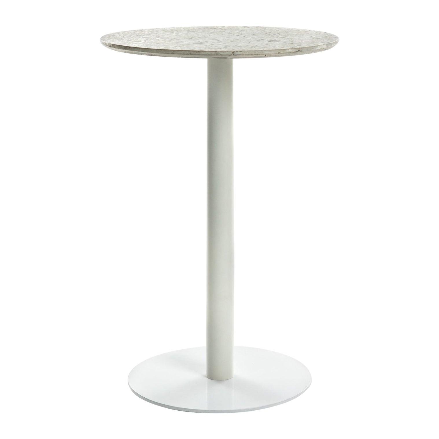 Guéridon / Bistro Table 'I' in White Terrazzo