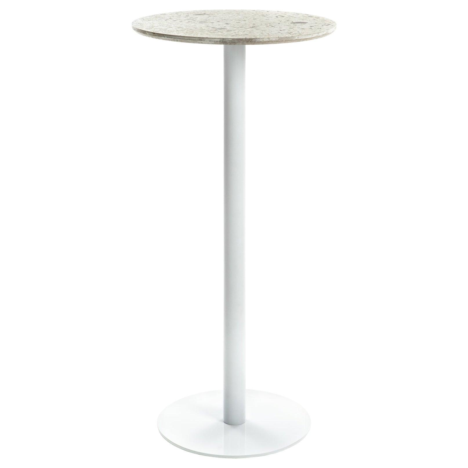 Bar Table 'I' in White Terrazzo