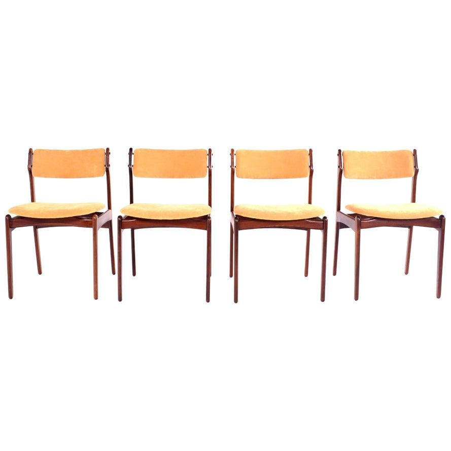 Midcentury Danish Rosewood Dining Chairs by Erik Buch for OD Møbler