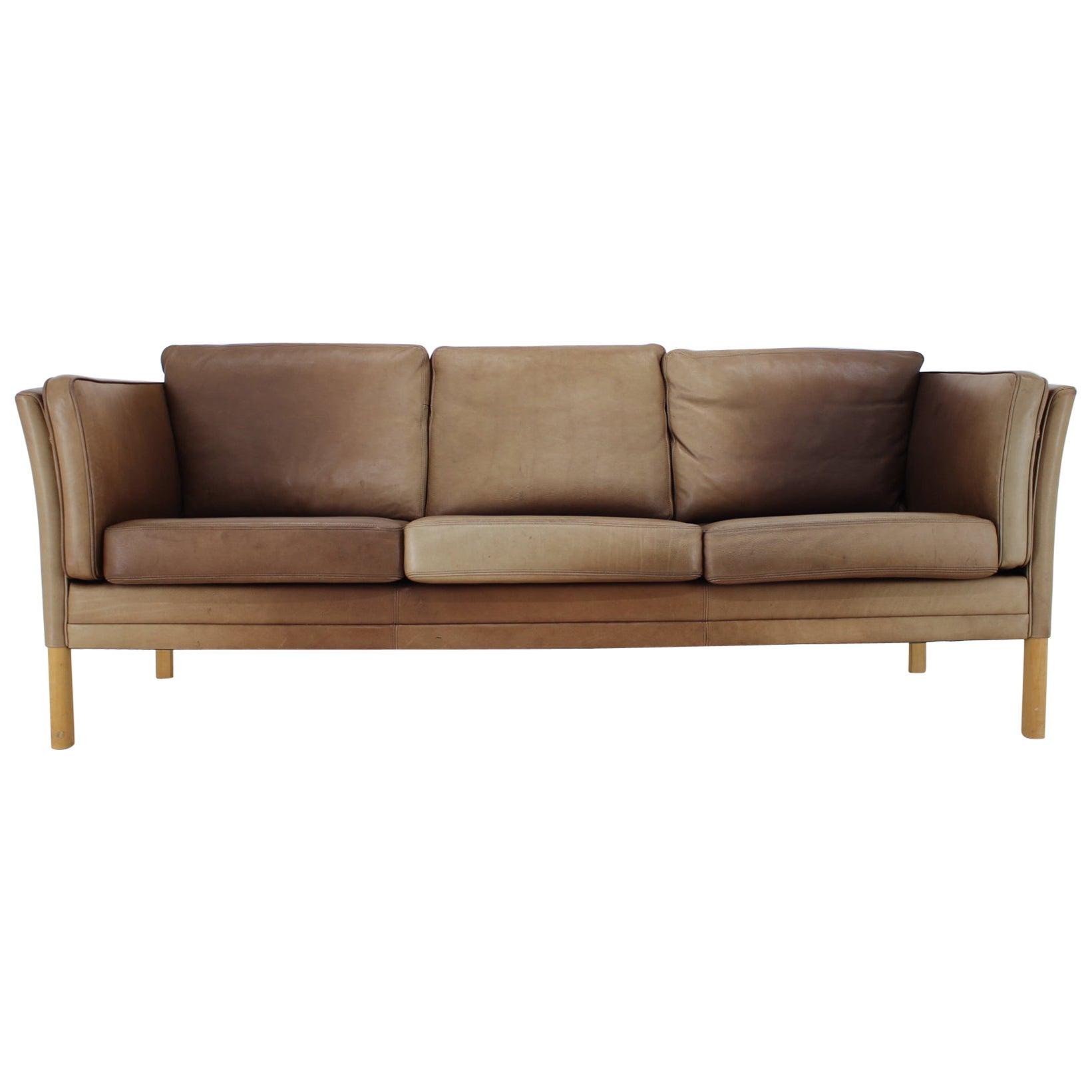 1960s Georg Thams Leather 3-Seat Sofa
