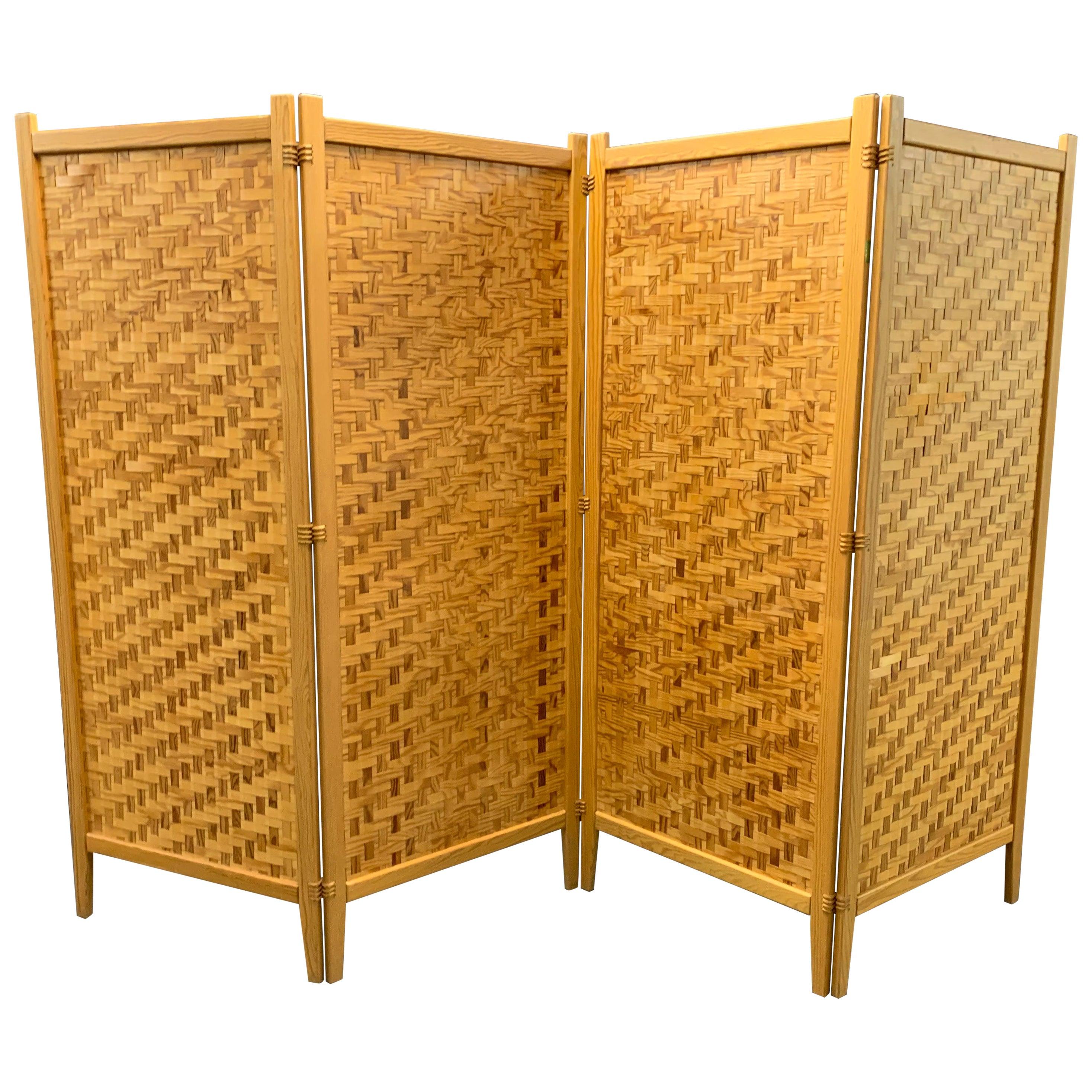 Wonderful Pine Folding Screen Room Divider