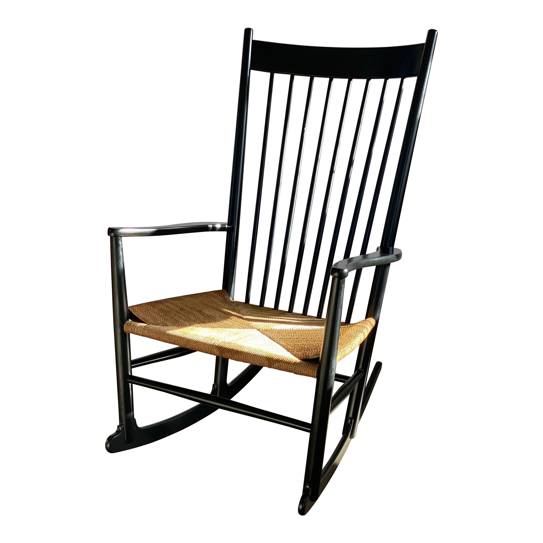 Hans Wegner Rocking Chair Model J16 for FDB Mobler